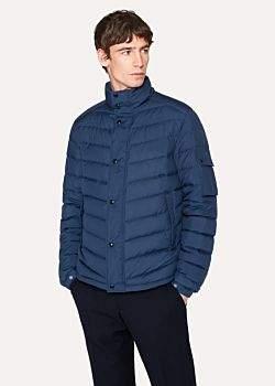 Paul Smith Men's Blue Chevron Down-Filled Jacket