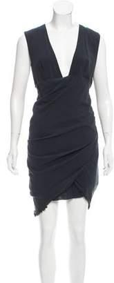 Isabel Marant Raw-Edge Knee-Length Dress