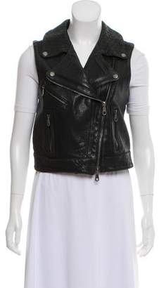 Proenza Schouler Leather Moto Vest