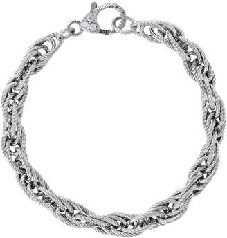 Judith Ripka Verona Sterling Textured Rope Bracelet, 10g