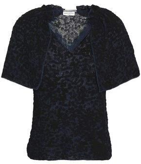 Sonia Rykiel Cape-Effect Cotton-Blend Jacquard Top