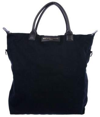 WANT Les Essentiels Leather-Trimmed Canvas Tote