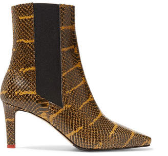 Leila Aeyde aeyde Snake-effect Leather Ankle Boots - Snake print