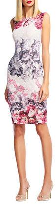 Adrianna Papell Sleeveless Berry Matelasse Dress $199 thestylecure.com