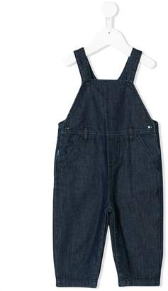Knot denim overalls