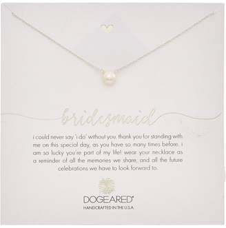 Dogeared Bridesmaid Silver 6Mm Pearl Necklace