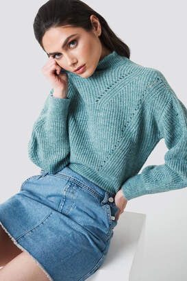 Na Kd Trend High Neck Pattern Knitted Sweater