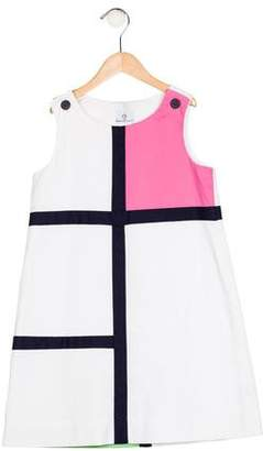 Florence Eiseman Girls' Colorblock Shift Dress