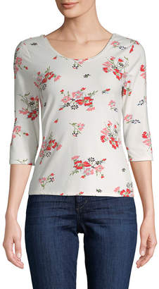 Rebecca Taylor Marguerite Printed Jersey Top