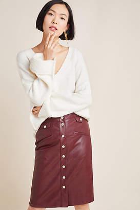 Suncoo Veronica Buttoned A-Line Skirt