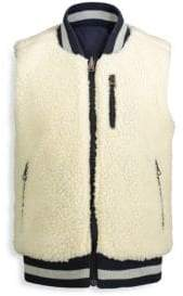 Andy & Evan Baby Boy's, Little Boy's& Boy's Reversible Sherpa Varsity Gilet