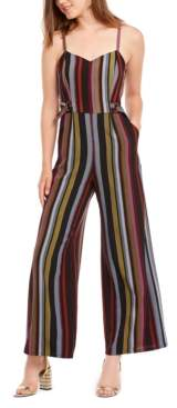 BeBop Juniors' Striped Jumpsuit