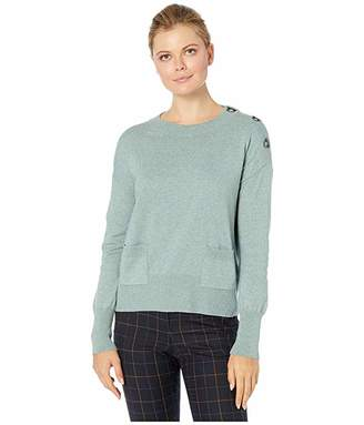 Elliott Lauren Tog Along Toggle Detail Sweater with Two-Pockets