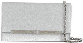 Casadei glittered clutch bag