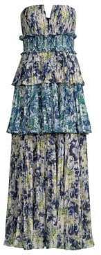 DAY Birger et Mikkelsen AMUR Mel Abstract Print Strapless Midi Dress