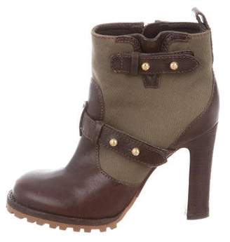 Tory Burch Round-Toe Ankle Boots