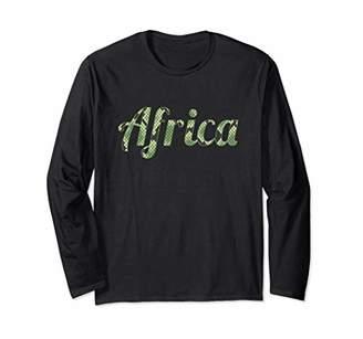 83ecf6e46 Africa Snake Print Zoo Animal African Safari Gift Long Sleeve T-Shirt
