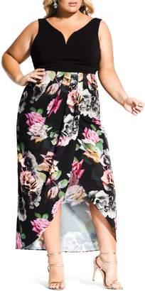 City Chic Rose Jewel Maxi Dress