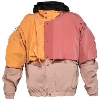 Y/Project Colour Block Cotton Bend Jacket - Mens - Orange
