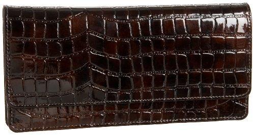Tusk Croc-Embossed Gusseted Clutch Wallet