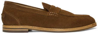 H By Hudson Tan Suede Romney Loafers