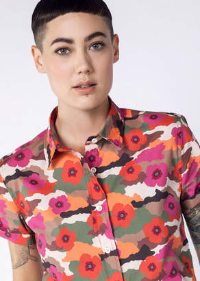 WildFang The Ultimate WF Floral Camo Button up - The Ultimate WF Floral Camo Button Up - MULTI - XSMALL
