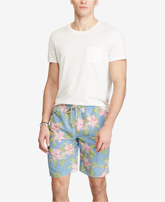 Polo Ralph Lauren Men's Floral-Print Swim Trunks $85 thestylecure.com