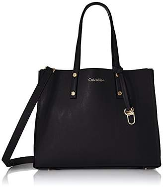 Calvin Klein Faux Leather Small East/West Tote