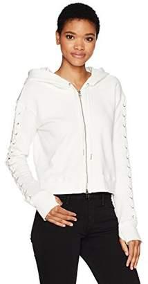 Pam & Gela Women's Sweatshirt with Laceup
