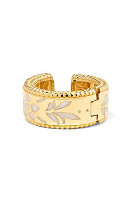 Gucci Icon 18-karat Gold And Enamel Ear Cuff