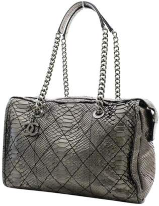 Chanel Silver Exotic leather Travel Bag