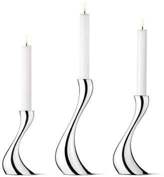 Georg Jensen Cobra Candleholder, Set of 3