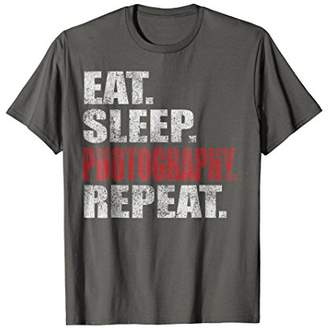Eat Sleep Photography Repeat Distressed Photography T-Shirt
