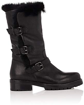 Sartore Women's Fur-Lined Moto Boots