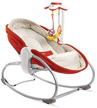Tiny Love 3-in-1 Rocker Napper, Newborn Baby Bouncer with Recline, Music and Lights, Suitable from Birth, 0 Month +, Red