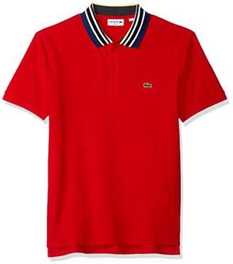 Lacoste Men's Short Sleeve Semi Fancy Mouline Noppe Pique Polo-Slim Fit
