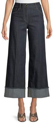 Moschino Wide-Leg Cropped Jeans
