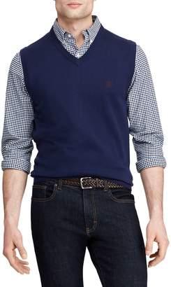 Chaps Cotton V-Neck Sweater Vest