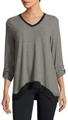 Calvin Klein Performance Striped V-Neck Pullover