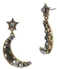 Miriam Haskell Moon and Star Drop Earrings