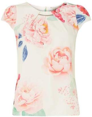 Dorothy Perkins Womens **Billie & Blossom White Bloom Floral Print Top