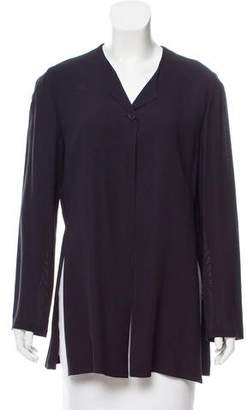 Emporio Armani Long Sleeve Knit Button-Up