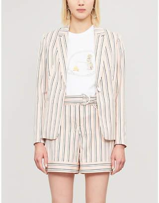 Ted Baker Betiia striped tailored woven blazer