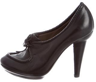Bottega VenetaBottega Veneta Intrecciato-Trimmed Leather Booties