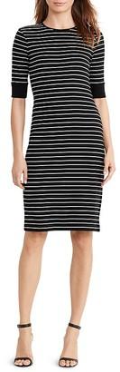Lauren Ralph Lauren Elbow Sleeve Stripe Tee Dress $99.50 thestylecure.com