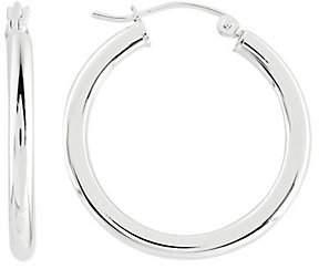"""Prerogatives Sterling 1"""" Round Hoop Earrings, 3"""