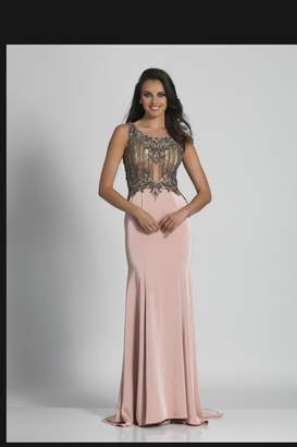 Dave and Johnny Embellished Blush Gown