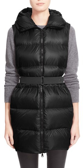 Moncler Women's Moncler 'Glykeria' Water Resistant Hooded Down Puffer Vest