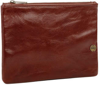 Age Carriers Bordeaux Leather Zip Pouch