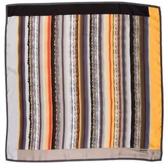 Missoni Silk Printed Scarf Grey Silk Printed Scarf